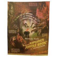 1942 Original Movie Film Ad Ruyard Kipling's Jungle Book with Sabu Technicolor Alexander Korda