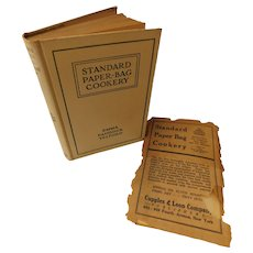 1912 Standard Paper-Bag Cookery by Telford Cooking Cook Book Recipes Receipts Menus Meals Pastry Fish Meats Appetizers Antique Edwardian