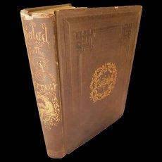 1853 First Edition Antique Book Salad For the Solitary By An Epicure of Fertile Fields of Literature Literary Palate Frederick Saunders Philosophy Wit Epitaphs Essays Poetry