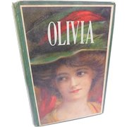 Antique Edwardian Charles Garvice Olivia Or It Was For Her Sake Egyptian Egyptology Themed Romance Adventure Lithograph Lady Book Cover