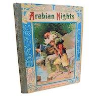 Antique Arabian Nights Entertainments & Co. Childrens Book Illustrated Victorian Aladdin Ali Baba