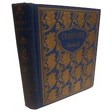 Antique Victorian Cranford Elizabeth Gaskell Fine Binding Gilt Acorns Oak Leaf Book