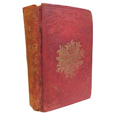 1855 The Oasis or Golden Leaves of Friendship Ferguson Prose Poetry to Women Marriage Deportment Moral Religious For Elevation Antique Book