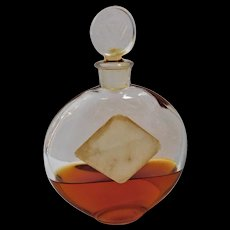 Art Deco Lalique Worth Je Reviens Glass Perfume Bottle Scent