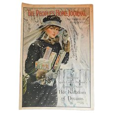 Antique December 1918 People Home Journal Ads Red Cross WWI Soldiers Photographic News Thornton Burgess Christmas Ads Short Stories