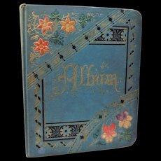Victorian Autograph Album Book Sketches Art Poems Ida St. Louis MO 1883 Antique