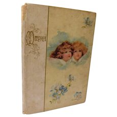 Mizpah Antique Edwardian Poetry Poem Gift Book Angel Cherub Illustrated Color Plates Cupples & Leon Havergal Tennyson Whittier
