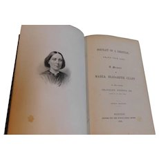 1858 Portrait of a Christian Drawn From Life Maria Clapp Sunday School Society Antique Victorian Book Biography
