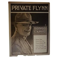 Antique 1918 Private Flynn Lloyd Garrett Sheet Music Doughboy Soldier Military World War I WWI Army