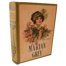 Earl Christy Lady Lithograph Cover Marian Grey or The heiress of Redstone Hall by Mrs. Mary J. Holmes Victorian Novel Romance Antique Book