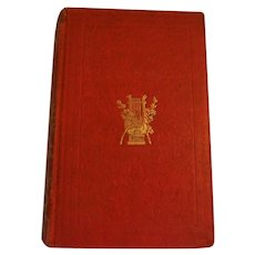 1851 Poems Plays & Essays by Oliver Goldsmith Antique Book Victorian Red Gold Gilt