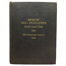 World War 1 1918 Infantry Drill Regulations United States Army 1911 Soldier Private Frank McKnight Rosebush Michigan WWI Antique Military Book