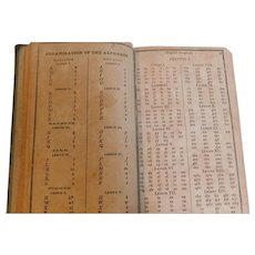 1825 Georgian Cobb's Spelling Book Orthography & Orthoepy of J. Walker by Lyman Cobb Antique Reading Speller School Primitive Lesson Book