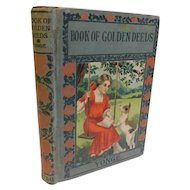 Victorian Book of Golden Deeds Yonge Historical Character Moral Courage Building Stories For Children Antique