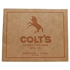 1920 Colt's Patent Fire Arms Illustrated Gun Catalog Revolvers Pistols Automatic Machine Guns Antique Book Colt