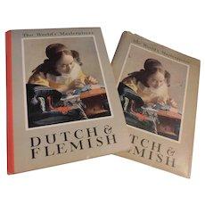 1939 Dutch & Flemish Painting by Carroll and Cavanah Lovely Color Plates Inside Rembrandt Brueghel Van Eyck Van Ruysdael Rubens Illustrated