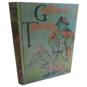 Victorian Gulliver's Travels Into Some Remote Regions of the World by Jonathan Swift with Sixty Illustrations Antique Book