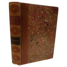 Beautiful 1892 Mosses From An Old Manse by Nathaniel Hawthorne Short Stories Fine Binding Leather Marbled Antique Victorian Book