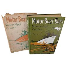 1912 Antique Book Motor Boat Boys Mississippi Cruise or The Dash For Dixie Arundel Dustjacket 1st Edition