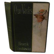 Antique Quo Vadis Henryk Sienkiewicz Nero Rome Roman Book Lovely Lady Decorative Lithograph Cover 1907 Fiction Novel Historical