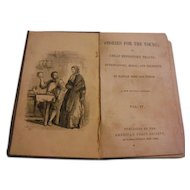 1840s Stories For the Young Entertaining Moral & Religious Hannah More Antique Victorian Book Illustrated Children Gin Shop Money Lender