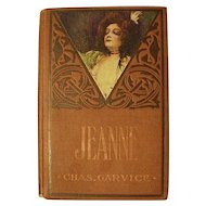 JEANNE Barriers Between Love's Triumph Charles Garvice England Nobility Victorian Antique Book Litho Lady Cover Novel Adventure Romance