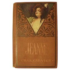 JEANNE Barriers Between Love's Triumph Charles Garvice Victorian Antique Book Cameo Litho Lady Cover Novel Adventure Romance