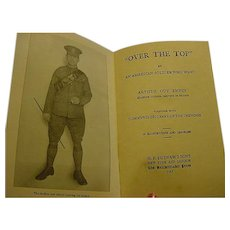 1917 Over the Top World War I Soldier Machine Gunner Book Trench Fighting France WWI 16 Illustrations Maps Photos