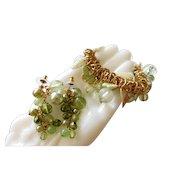 Designer Joan Rivers Cha Cha Butterfly Charm Stretch Bracelet Beads & Post Earrings Crystal Set Demi Parure