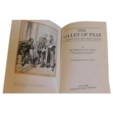 1914 The Valley of Fear The Tragedy of Birlstone & The Scowrers Sir Arthur Conan Doyle Sherlock Holmes Keller Illustrated Book First U.S. Edition