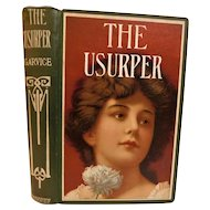 The Usurper by Charles Garvice English Nobleman Victorian Adventure Romance Fine Binding Lady Lithograph Cover Gypsy Mystery