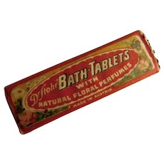 Dr. Stohr Bath Tablets Natural Floral Perfumes Antique Advertising Box Full & Unopened Victorian to Edwardian