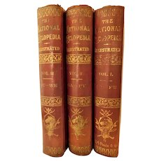 1889 The National Cyclopedia Farm Home School Useful Practical Information by Periam Agriculture Farming Set Antique Victorian Illustrated Horticulture Insects Animal Husbandry Veterinary Stock Farmer Cooking Bees Book
