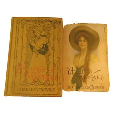 A Lifes Mistake Charles Garvice Romance & Revenge England Nobility 1892 Antique Book Novel Victorian Dust Jacket Lady Cover