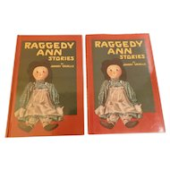 1918 Raggedy Ann Stories Written and Illustrated by Johnny Gruelle Doll Book 1993 Reissue with Dust Jacket