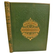 1867 Gems of National Poetry Compiled British England Poets Mainly Nature Themed Poems First Edition Wood Illustrations by Tenniel Weifgall Scott Fine Binding