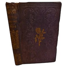 1857 Bridal Greetings A Marriage Gift by Rev. Daniel Wise Wedding Book Advice Cautions Duties of Husband & Wife Antique Victorian