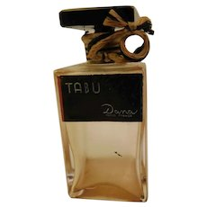 Vintage Dana Tabu Made in France Glass Perfume Bottle Scent