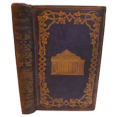 1853 Mr Rutherford's Children by Susan and Anna Warner First Edition Antique Victorian Childrens Book Moral Christian Illustrated Fine Binding