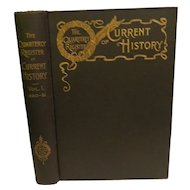 1892 Quarterly Register of Current History January of 1890 to December 1891 U.S. and World History Current Events Politics Diplomacy Wars  & Michigan Local History