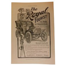 1904 The Royal Tourist Motor Car Co. Genuine Original Ad Antique Print Advertising Automobile Car Edwardian