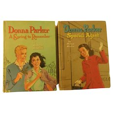 Donna Parker by Marcia Martin Special Agent 1957 and A Spring to Remember 1960 Vintage Books