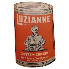 Vintage Luzianne Coffee and Chicory Wm. B. Reilly & Co. Advertising Booklet Needles Sewing Kit Book New Orleans LA  Die Cut
