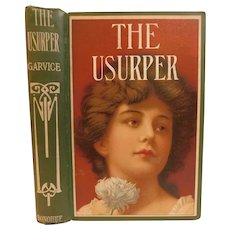 The Usurper by Charles Garvice English Nobleman Victorian Adventure Romance Lady Lithograph Cover Gypsy Mystery