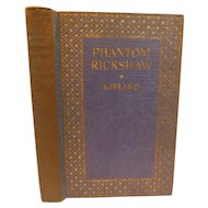The Phantom Rickshaw And Other Stories by Rudyard Kipling Antique Adventure Book
