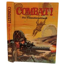 1964 Combat! Counterattack by Franklin Davis Jr. Television Series Hard Cover Book Vintage Illustrated World War II WW2