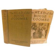 1922 The Head of the House of Coombe by Frances Hodgson Burnett Novel Book England Mystery Romance