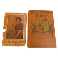1910 Red Pepper Burns by Grace Richmond Illustrated Antique Edwardian Doctor Book