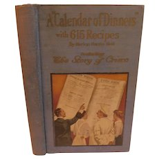 A Calendar of Dinners with 615 Recipes by Marion Neil Including the Story of Crisco Receipts Cook Book Cookery Antique Edwardian
