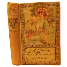 A Girl in Ten Thousand by Mrs. L.T. Meade Antique Romance Lady Lithograph Print Cover Young Lady Nurse Book Victorian Antique